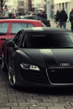 Matte Black Audi R8… Mmmm! :) I really love Audi's. German engineering tho.