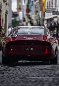 This Ferrari 250 GTO paint job is the same color as the Italian Rose I drank last night… ;)