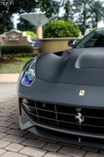 Matte black Ferrari F12 Berlinetta