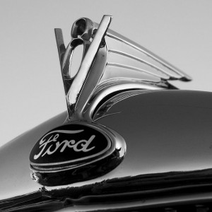 Classic Ford V8 hood ornament