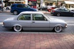 Silver BMW E21 Slammed on Silver 16\
