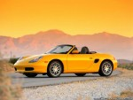 Porsche Boxster Yellow Convertible Wallpaper