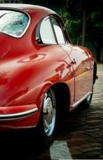 Classic red 356 Porsche.