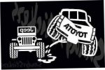 Toyota Peeing On Jeep Sticker Decal – Tundra Tacoma 4Runner FJ Cruiser Truck
