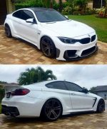 BMW F82 M4 white widebody