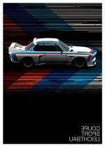 BMW 3.0 CSL (Motorsport Edition) print by Guy Allen